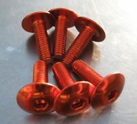 M 5 x 20 mm button head socket cap bolt, orange anodised, 6 pieces