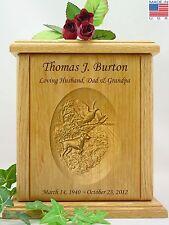 Human Cremation Urn - Carved Bird Hunting Urn - Bird Dog Urn (H-100)