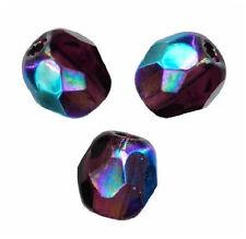 50 Perles Facettes de boheme 4mm - GARNET AB