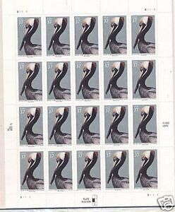 USA 2002 PELICAN ISLAND 20 STAMP 37 CENT PANE MNH