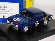 ALFA ROMEO GTJ SPA 1968 #83 DIV. WINNER PROGETTO PK 068 1/43
