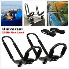 Universal Car SUV Roof J-Bar Rack Kayak Boat Canoe Mount Bracket Rack Iron 220lb