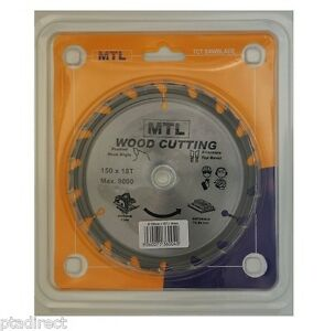 150mm x 18T or 30T with 16mm bore MTL brand TCT Circular Saw Blade for Wood