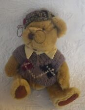 "Pickford Bears Sherwood The Brass Button Bear Plush Stuffed Animal 10"" Tall"