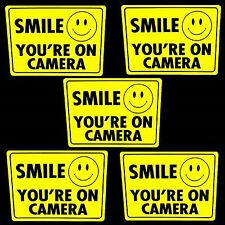 SECURITY SURVEILLANCE CAMERAS IN USE STICKER DECALS SMILE YOU ARE ON HOME VIDEO