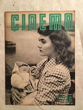 RIVISTA CINEMA 76 12/1951 COPERTINA DELORME JEAN KENT MISS EUROPA