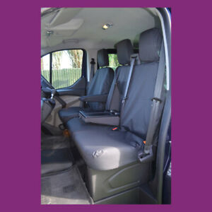 Maxus Deliver 9 2020+ Tailored Waterproof Front 3 WITH TRAY Black Seat Covers