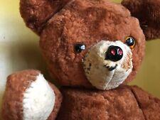 Antique TEDDY BEAR Glass Eyes, Felt Pads, Bell in Ear Jointed Steiff?