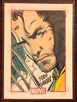 Wolverine Marvel 70th Anniversary color sketch card 1/1 Eddie Wagner
