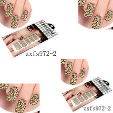 2Pcs Leopard Nail Art Stickers Transfer Stickers Big Sheet Manicure Decoration