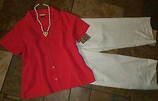 Women's plus size clothing lot outfit sz 18 pants xl blouse NWT,  necklace