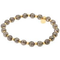 Gorjana Power Gemstone Two Tone One Size Elastic Bracelet 19420930G