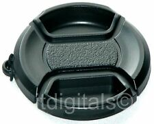 For Canon Powershot SX40 HS Snap-on Front Lens Cap Holder Keeper String Cord New