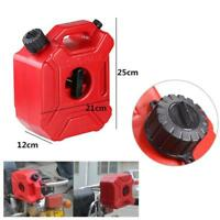 3L Plastic Jerry Cans Gas Container Diesel Fuel Tank Auto Bike Motorcycle w/Lock