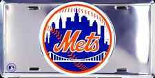NEW YORK METS CAR TRUCK TAG CHROME LICENSE PLATE METAL SIGN MAN CAVE