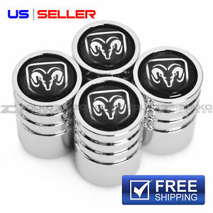 DODGE VALVE STEM CAPS  WHEEL TIRE CHROME - US SELLER VE46