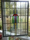 SK-434 English Triple Pane Leaded Stained Glass Window 25W X 33 1/4T Un-Framed
