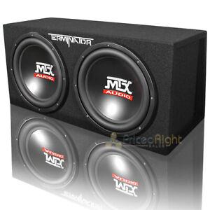 "MTX Audio Dual 12"" Subwoofers Vented Subwoofer Enclosure Box 2000W Max TNE212DV"