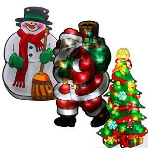 LED Christmas Window Decoration 45cm Tree, Snowman, Santa