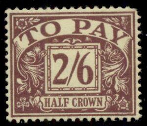 GREAT BRITAIN #J53, 2sh6p Postage Due, og, LH, VF, Scott $200.00