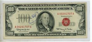 FR. 1550 One Hundred Dollars Series of 1966 United States Note - 1707