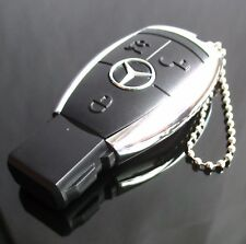 Mercedes Benz Car Key Shape USB 16GB Memory Stick Flash Drive With Ball chain
