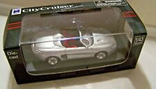 New Ray City Cruiser Mustang Mach III & Display Case Silver 1:43 Scale