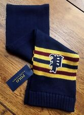Polo Ralph Lauren Hunter Navy Knitted Varsity Scarf to Suite Age 2-4 Years