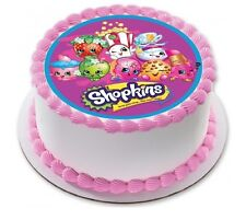 Shopkins Edible Kids Birthday Party Cake Decoration Round Topper Image