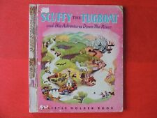 SCUFFY THE TUGBOAT Little Golden Book #15  SYDNEY 1940s/50s light brown spine