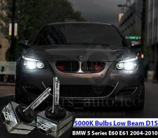 2x D1S Xenon White 5000K Bulbs Replacement Headlights Low Beam BMW E60 E61 05-10