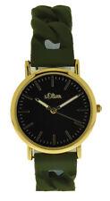s.Oliver Time Unisex Armbanduhr SO-3423-PQ Silikon grün gold UVP:49,95�'� NEU