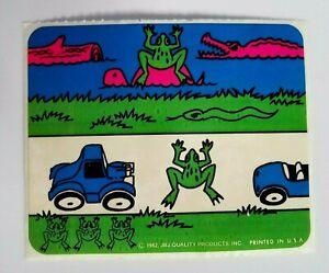 Vintage 1982 SEGA Frogger Video Game Sticker JBJ  PR