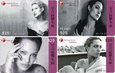 Angelina Jolie 4 telefoonkaarten/télécartes  (AJ93-4c)