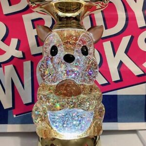 Bath Body Works Squirrel Globe Pedestal 3 Wick Candle Holder Batteries Included