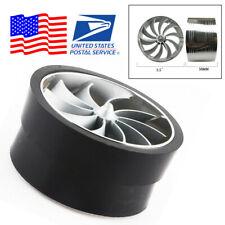 "3.5"" Aluminum Car Single Turbo Turbine Air Intake System Gas Fuel Saver Fan -USA"