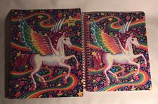 Lisa Frank Glitter Pegasus Spiral Notebook Pocket Folder