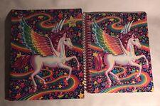 Lisa Frank Glitter Unicorn Spiral Notebook Pocket Folder