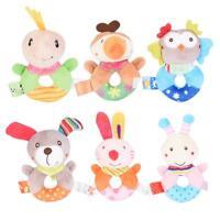 Kids Baby Animal Handbells Developmental Toy Cartoon Cute Plush Bed Rattle Bells