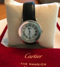CARTIER Watch Vintage Must De Cartier Argent Rhodie Large Round Face. Quartz