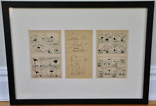 """FRAMED SIGNED ORIGINAL DRAWING OF 'SNOOPY""""~BY CHARLES SCHULZ~W. COA/LOA"""