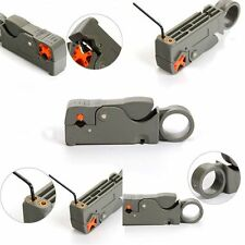 Adjustable Automatic RG6/59 Wire Stripper Double Blades Cable Cutter Pliers