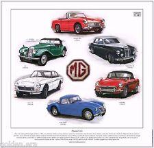 CLASSIC MG  FINE ART PRINT - TF MGA Coupe MGB Mk1 Midget MkII MGC GT Magnette ZB
