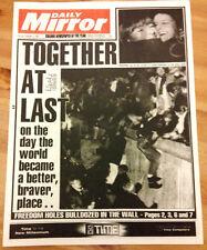 FALL OF BERLIN WALL Gulf War Mandela Free Old Newspaper Germany South Africa UK
