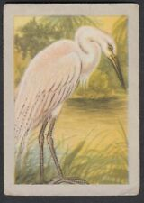 Egret bird french vintage Ad trading card