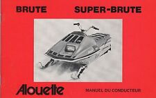 1976 ALOUETTE SNOWMOBILE BRUTE, SUPER-BRUTE  OWNERS OPERATORS MANUAL (107)