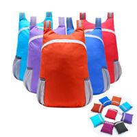 Lightweight Nylon Foldable Backpack Folding Bag Portable Men Women Backpack