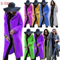 Women Winter Plus Size Knitted Sweater Coat Jacket Long Cardigan Outerwear S-5XL