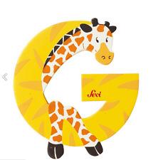 """NUOVO SEVI GIOCATTOLI IN LEGNO ALFABETO """"G"""" Giraffa Giocattolo lettera"""