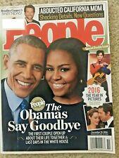 People Magazine, December 2016, The Obama s Say Goodbye